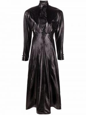 Платье миди на пуговицах - черное Isabel Marant