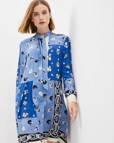 Голубое платье осеннее Weekend Max Mara