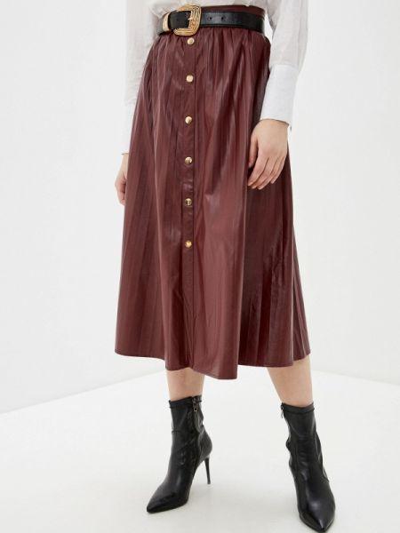 Плиссированная юбка бордовый красный Marissimo