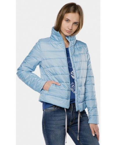 Голубая утепленная куртка Mr520