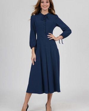Повседневное платье осеннее синее Marichuell
