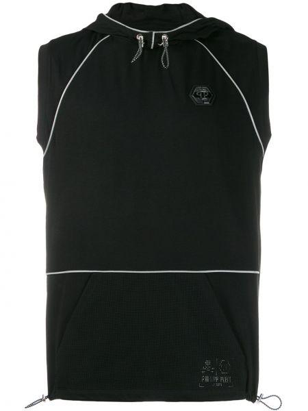 Bluza z kapturem z kapturem czarna Philipp Plein