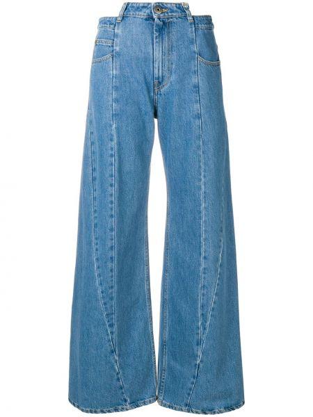 Широкие джинсы на пуговицах Maison Margiela
