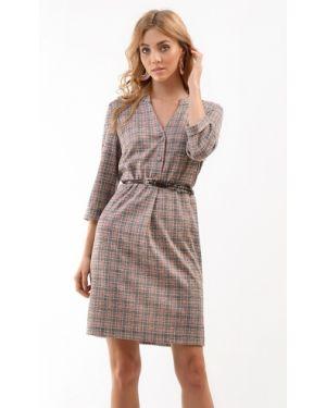 Деловое платье на пуговицах платье-сарафан Odetta
