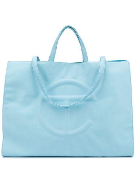 Niebieska torebka skórzana na basen Telfar