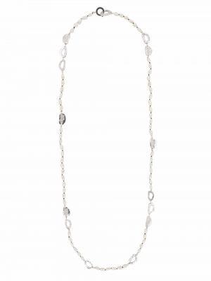 Biały naszyjnik srebrny Loveness Lee