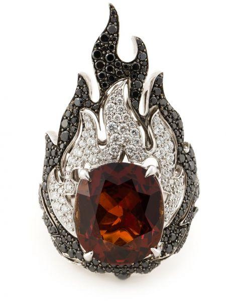 Czarny złoty pierścionek z diamentem Garrard