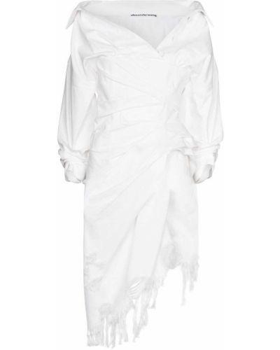 Sukienka asymetryczna - biała Alexander Wang