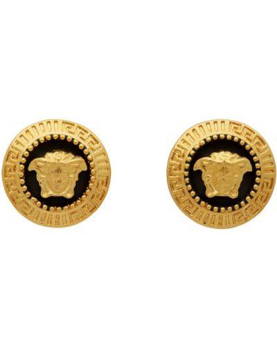 Kolczyki sztyfty, czarny Versace