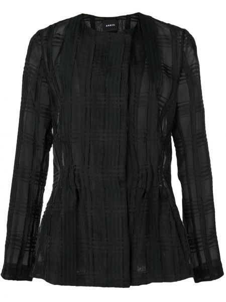 Czarna długa kurtka bawełniana z długimi rękawami Akris
