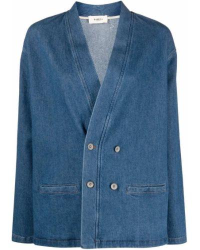 Хлопковая синяя джинсовая куртка двубортная Barena