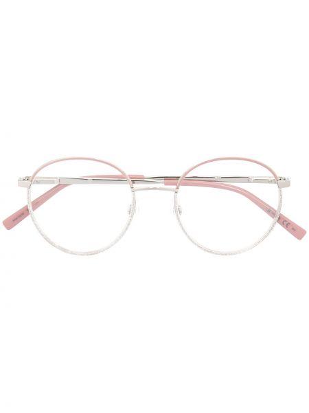 Różowa oprawka do okularów srebrna M Missoni