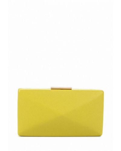 Желтый кожаный клатч Olga Berg