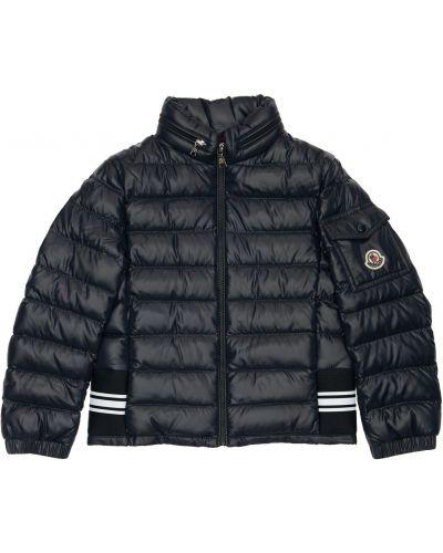 Puchaty z rękawami kurtka z kieszeniami z mankietami Moncler