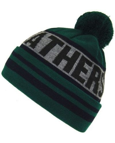 Зеленая шапка бини с помпоном Horsefeathers®