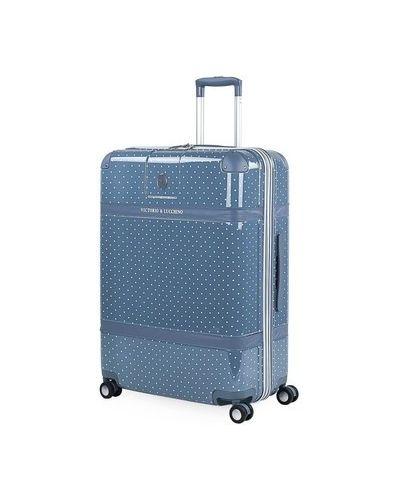 Niebieski walizka przeoczenie Victorio Y Lucchino