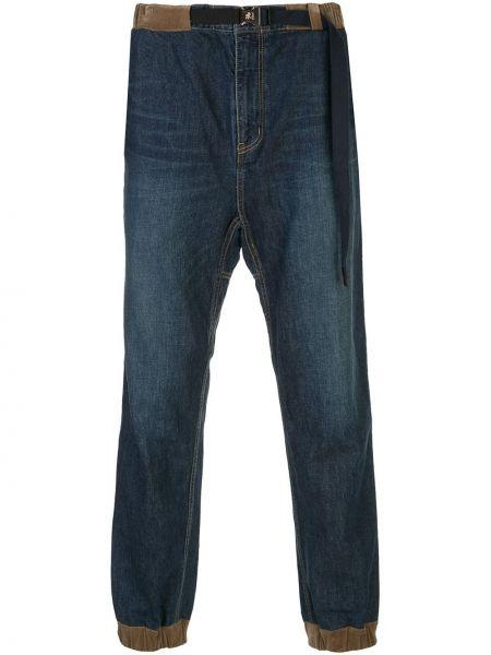 Niebieskie jeansy bawełniane perły Sacai