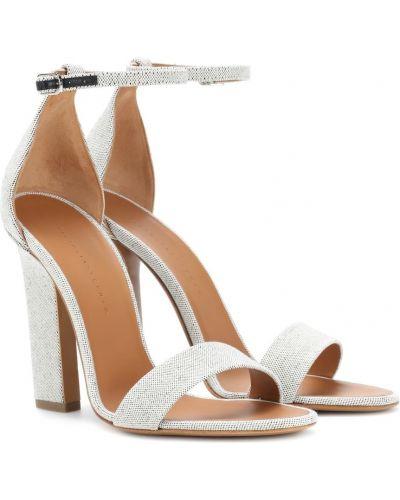 Sandały skorzane Victoria Beckham