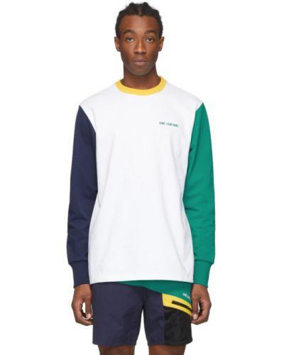 Zielony t-shirt z długimi rękawami bawełniany Aime Leon Dore