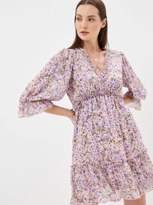Фиолетовое прямое платье А-силуэта Rinascimento