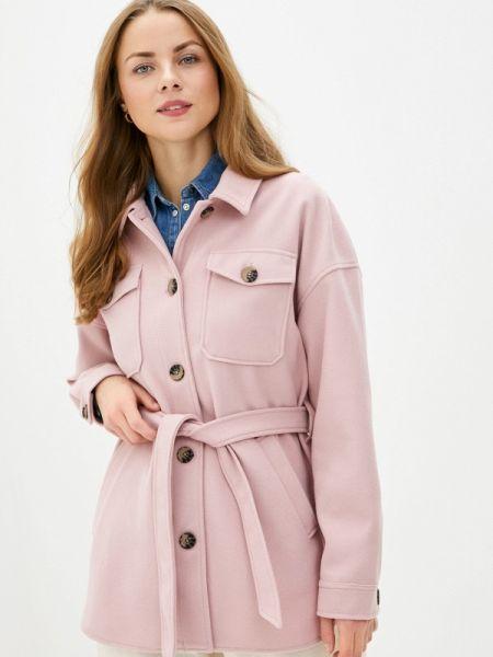 Пальто демисезонное розовое Sela