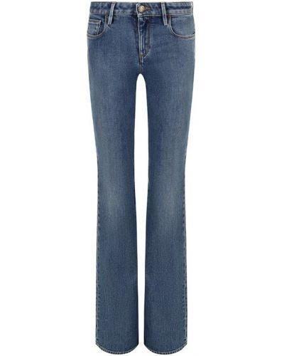 Расклешенные джинсы с эффектом потертости эластичные Roberto Cavalli