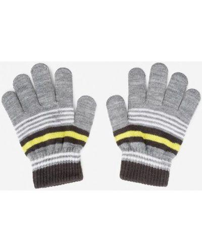 Серые перчатки Gloria Jeans