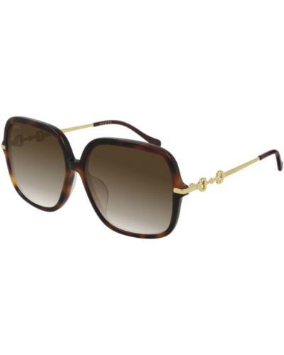 Okulary - brązowe Gucci
