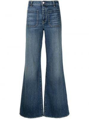 Широкие брюки - синие Nili Lotan