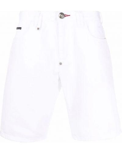 Białe klasyczne jeansy Philipp Plein