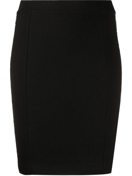 Черная прямая юбка миди с поясом Calvin Klein Jeans