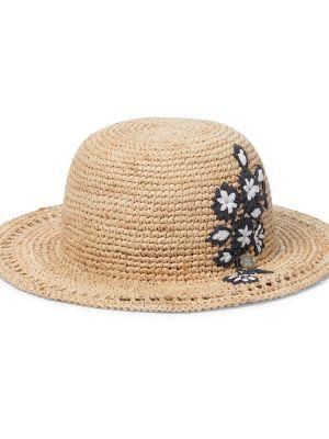 Złoty beżowy kapelusz z haftem Tartine Et Chocolat