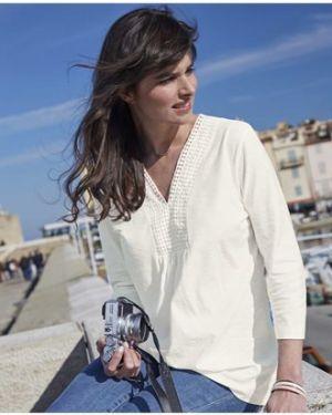 Блузка в стиле бохо с V-образным вырезом Atlas For Men
