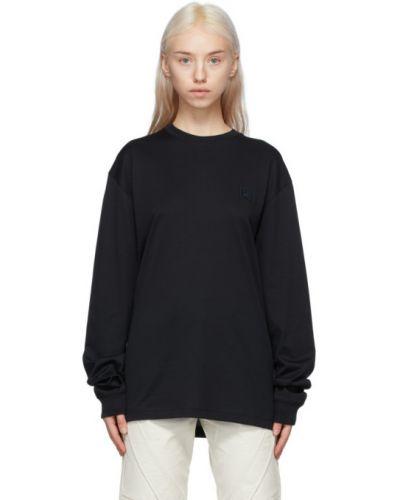Черная футболка с длинными рукавами с воротником Acne Studios