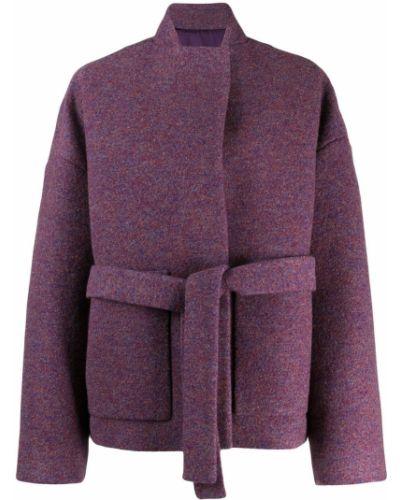 Фиолетовая длинная куртка Christian Wijnants