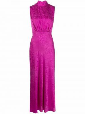 Розовое платье из полиэстера Saloni