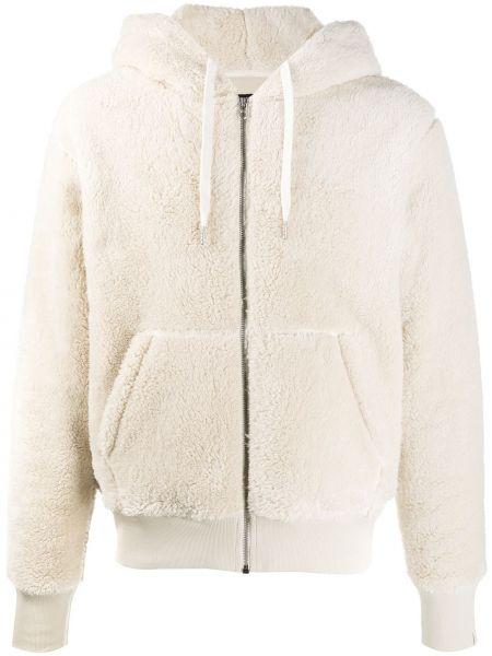 Beżowa długa kurtka z kapturem bawełniana Rag & Bone