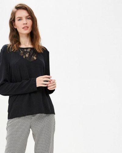 Черная блузка с длинным рукавом Vila