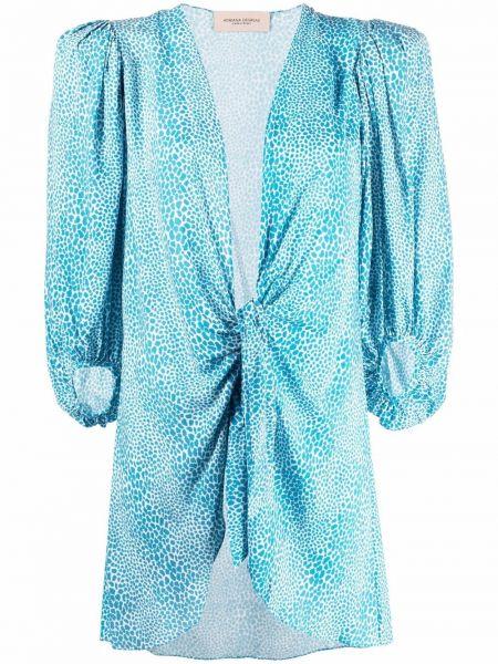 Рубашка из вискозы - синяя Adriana Degreas