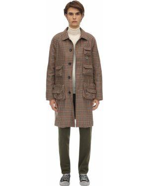 Brązowy płaszcz wełniany Lc23
