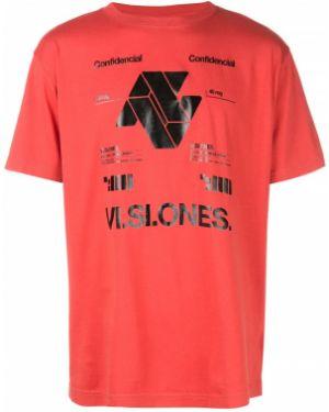 Bawełna koszula krótkie rękawy okrągły Marcelo Burlon County Of Milan