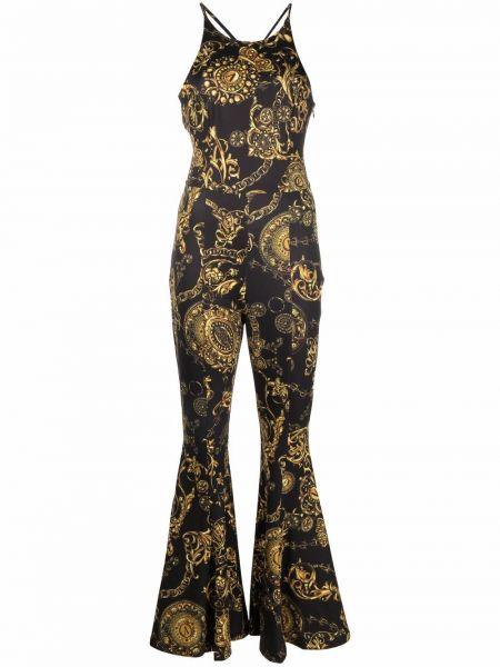 Джинсовый комбинезон - черный Versace Jeans Couture