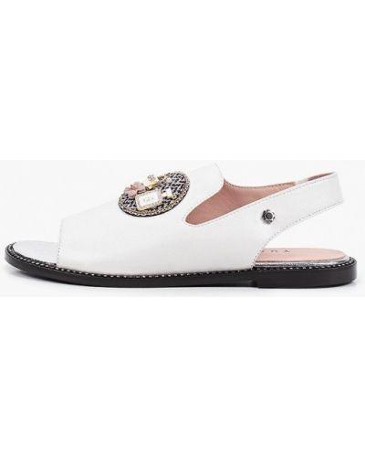 Белые кожаные сандалии Tuffoni