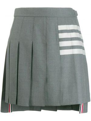 Серая асимметричная с завышенной талией юбка мини с разрезом Thom Browne