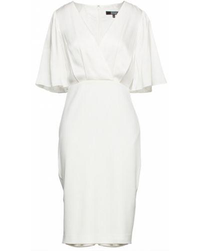 Платье с запахом - белое Badgley Mischka