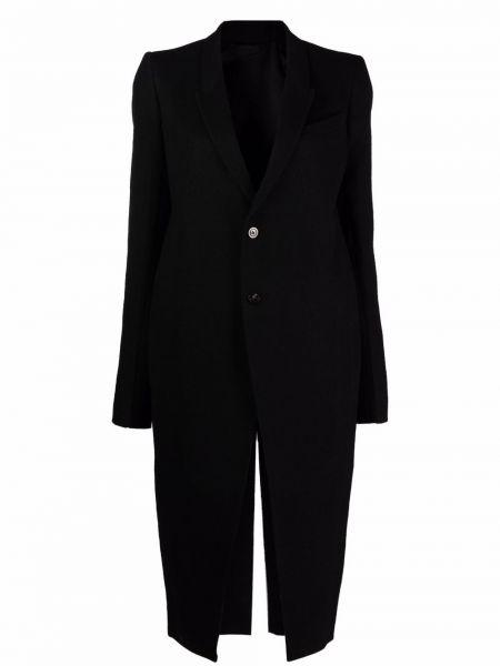 Płaszcz wełniany - czarny Rick Owens