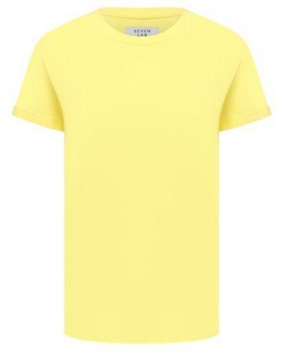 Хлопковая футболка Seven Lab