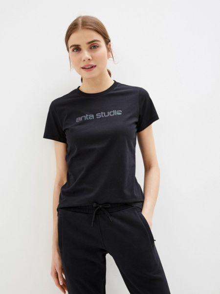 Футбольная черная футболка Anta