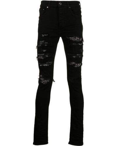 Черные хлопковые джинсы Amiri