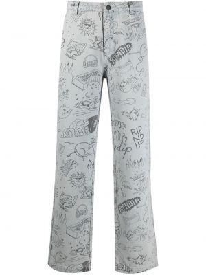 Широкие брюки - синие Ripndip